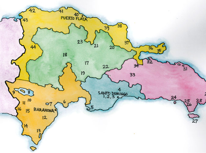 Dominican Republic Regions (Map by Dana Gardner)