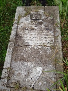 A grave marker in one of the burial grounds in Flagstaff.