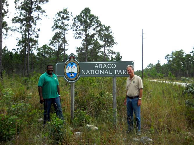 Abaco National Park Sign (Photo by Bahamas National Trust)