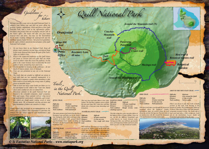 Hiking map of Quill