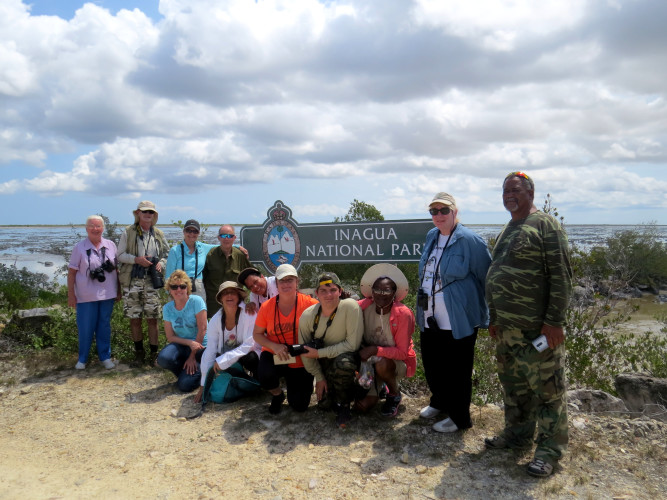 Bird Club of New Providence visiting the Inagua National Park with Park Warden, Henry Nixon (Photo by Carolyn Wardle)