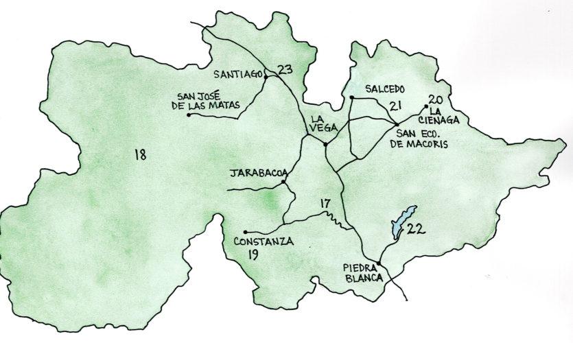 Cordillera Central and the Cibao (Map by Dana Gardner)