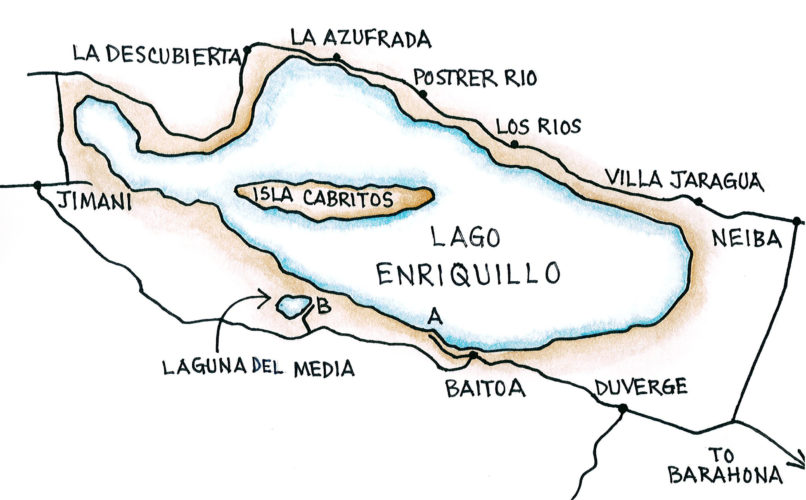 Lago Enriquillo (Map by Dana Gardner)