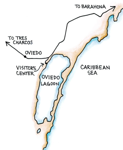 Oviedo Lagoon, Jaragua National Park (Map by Dana Gardner)