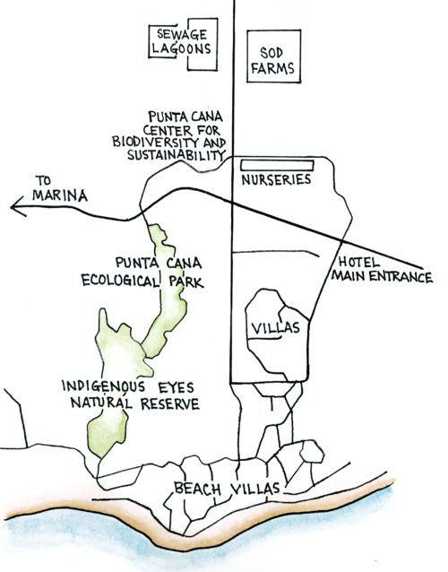 Ecological Foundation Trail, Punta Cana (Map by Dana Gardner)
