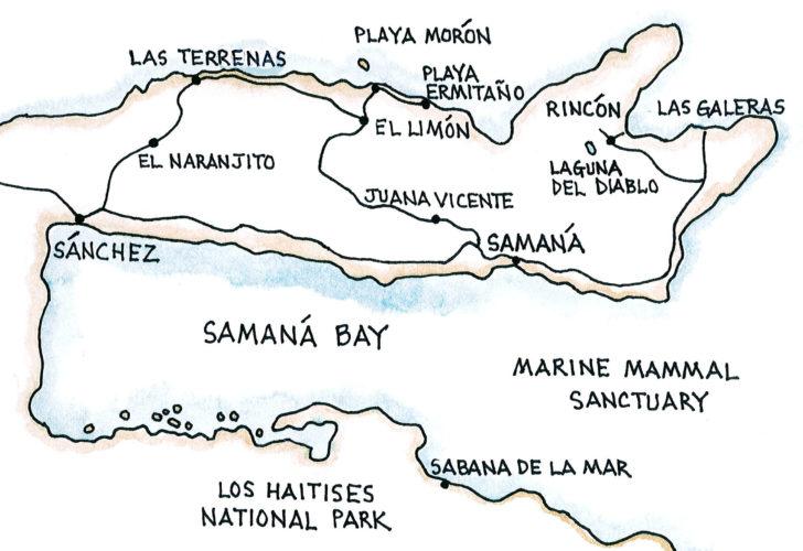 Samaná Bay (Map by Dana Gardner)
