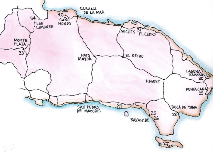 Southeast and Los Haitises (Map by Dana Gardner)