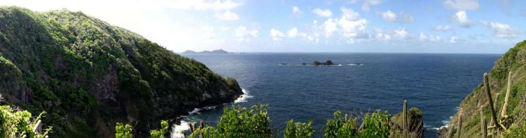 View from the overlook at the top of Little Tobago
